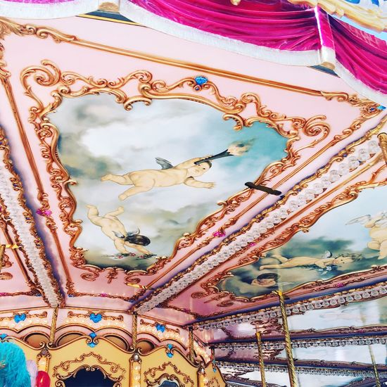 Low Angle View Sky Carousel Firenze Florence Italy Traveling Nostalgia