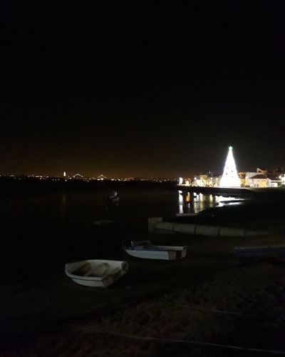 #2840 Marge Sul Seixal, Portugal 2840 Night Nautical Vessel Outdoors No People City Sky