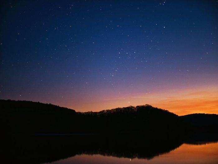 Stars ✨✨✨ Sunset Space Tranquil Scene Night Lake Nature Star Idyllic Water The Great Outdoors - 2018 EyeEm Awards