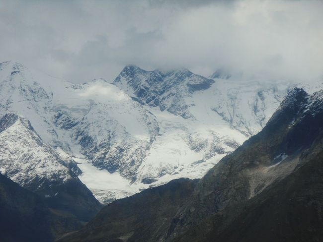 View of the snow-capped Himalayas, Rohtang Pass, Manali Mountain Snow Cold Temperature Winter Fog Snowcapped Mountain Landscape Mountain Range Sky Dramatic Landscape