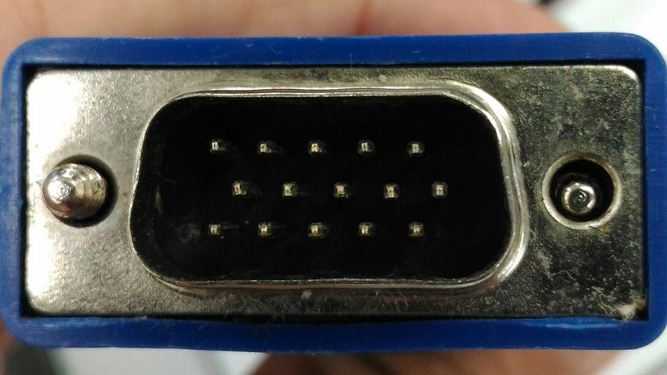 Close-up shot of a VGA cable Close-up Computers VGA Cable Pins