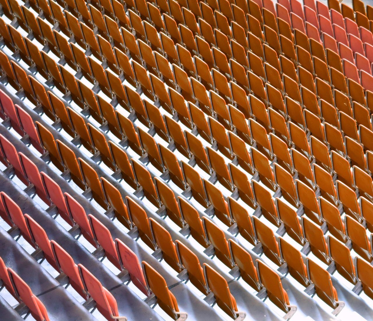 High Angle View Of Seats In Stadium