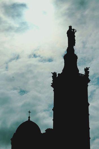 Cloud - Sky Sky Taking Photos Marsiglia Silhouette Church Notre Dame De La Garde