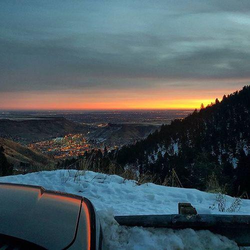 Coloradosunrise Sunrise Lookoutmountain Denverco Cityofdenver Mountaincamping