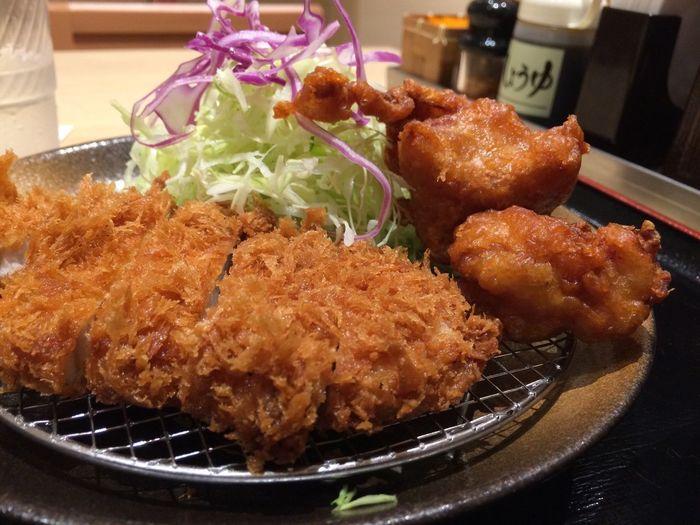 ロース&唐揚げ定食 豚汁変更