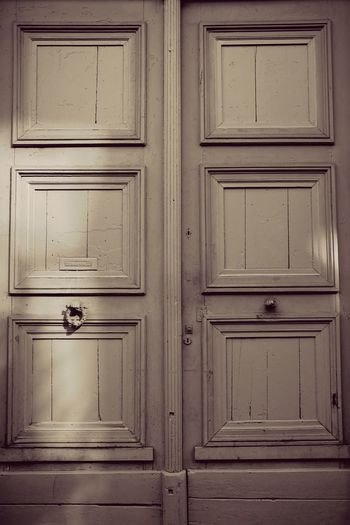 Closed Door Wood - Material Architecture In A Row Full Frame Day Exterior Order In Front Of Architectural Feature Wood Paneling Vintage Old Door Retro Doors