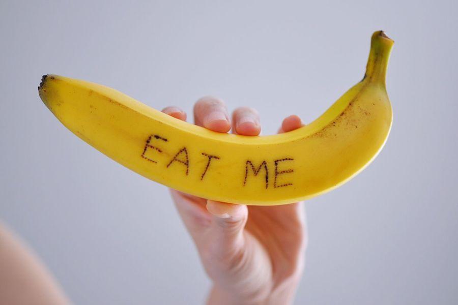 Human Hand Fruit Banana Food Hungry Live To Eat Snacking
