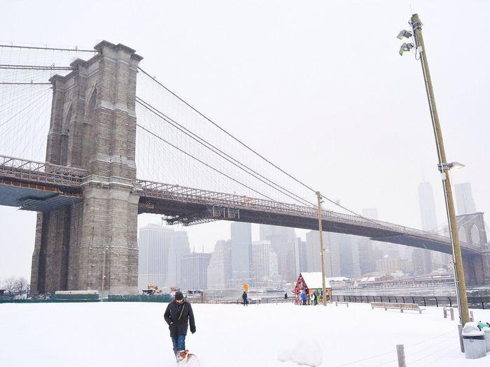 Snow Winter Brooklynbridge Brooklyn Bridge / New York Brooklyn NYC Photography NYC Tomfruin Brooklyn Bridge  Its Cold Outside It's Cold Outside