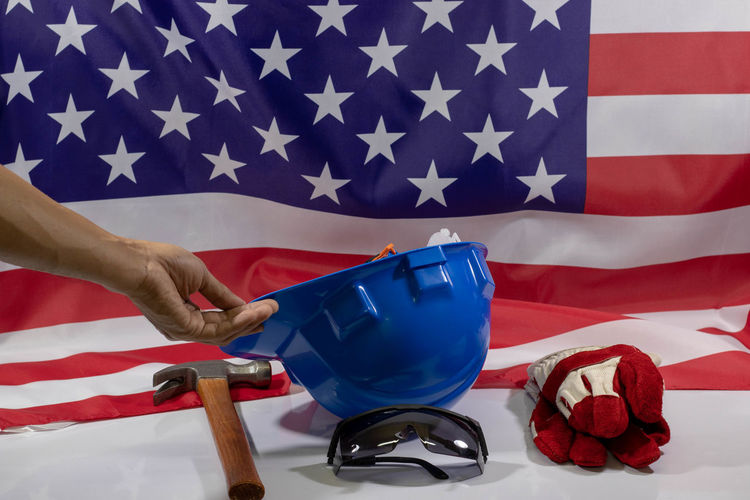 American American Flag Celebration Labor Day Labourer Flag Government Human Hand Labor Laboratory Laboratory Equipment Laboratory Glassware Laboratory Work Labour Labour Day Patriotism Star Shape Striped Work Tool