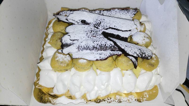 Food Cake Choccolate Saint Honoré Cream