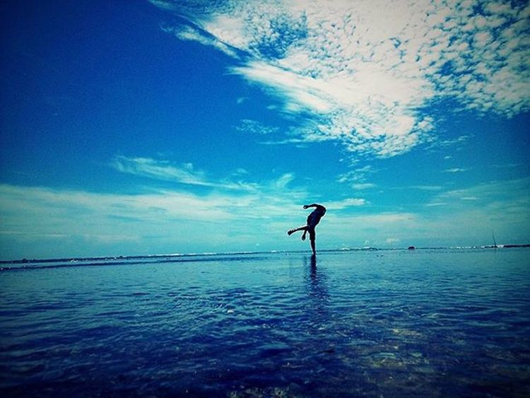"""""""reflection""""Landscape Beach INDONESIA People Indonesia_photography Blue Wave Nature TellTheWorld"""