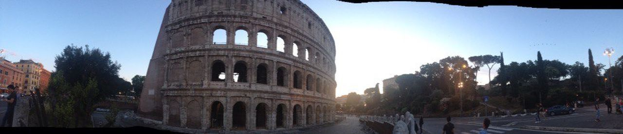 Italy🇮🇹 Roma Colizeum Architecture History Panoramic Sky Architectural Column Day Ancient Civilization