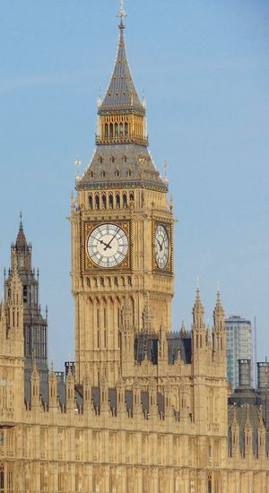 Scenic view of big ben against clear sky