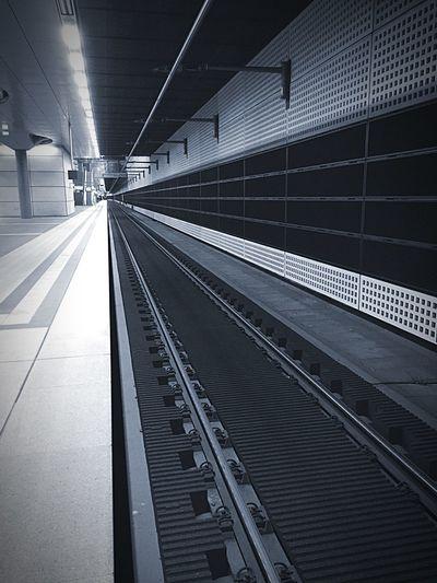 Train Tracks The Point Of No Return Public Transportation Notes From The Underground Platform Blackandwhite Black & White Monochrome Black And White Blackandwhite Photography