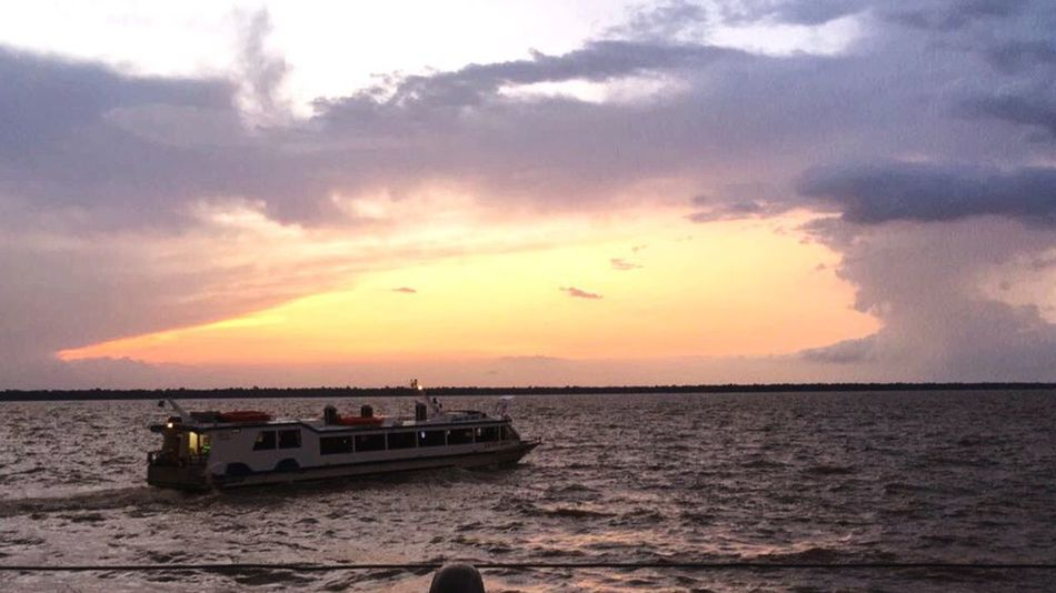 Sunset Sea Sky Cloud - Sky Water Nautical Vessel Transportation Nature Scenics Beach Beauty In Nature Horizon Over Water Mode Of Transport Tranquil Scene Tranquility Silhouette Outdoors Vacations No People Day
