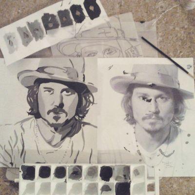Síntesis terminada. Johnnydepp La belle mixtape. (8) Art Design Drawing Draw Sketch Black