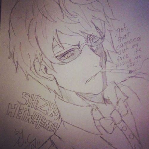 Durarara Shizuo Anime Sketch Drawing Smokingmakesyoucool Lovethisanime Somuchsexiness Needsangermanagement