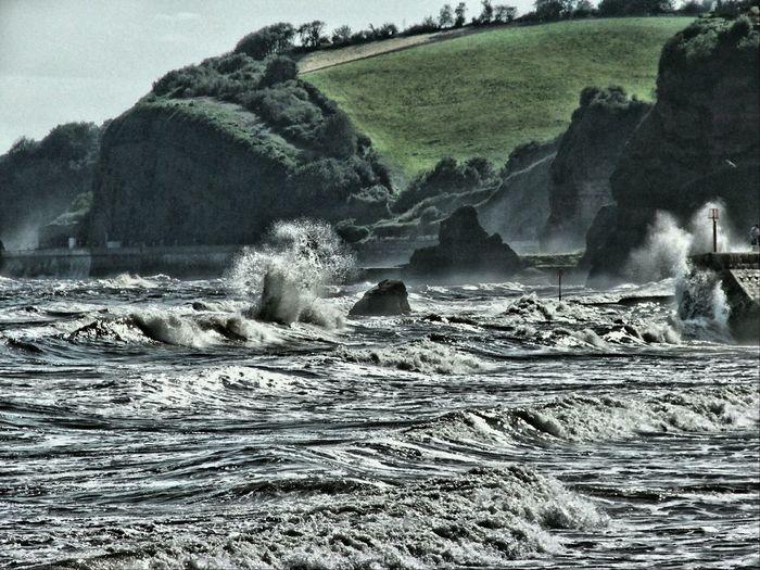 Windy Day Big Swell Waves And Rocks Slight Editing.