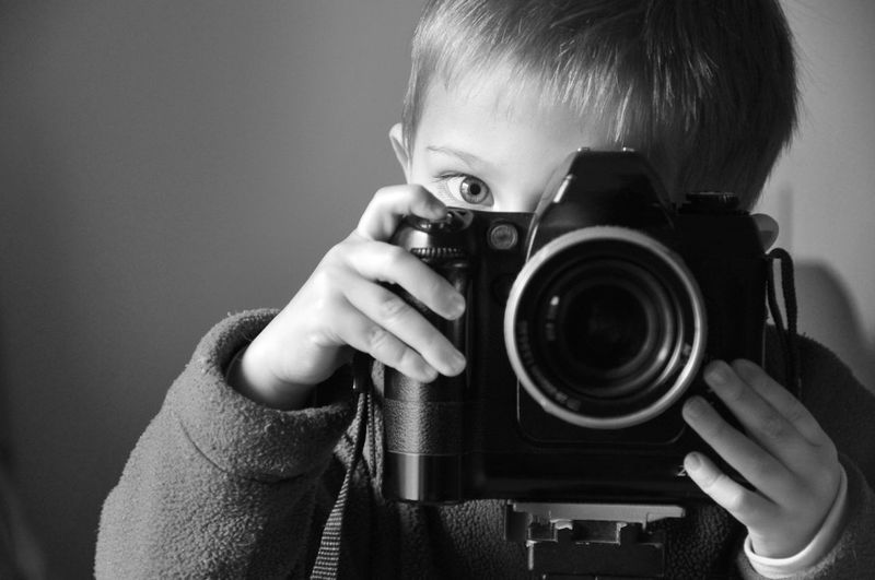 Photographer, child, camera, Photography Themes Camera - Photographic Equipment Retro Styled Photographing Lens - Optical Instrument Photographer Old-fashioned One Person People Only Men One Man Only Digital Camera Portrait SLR Camera Professional Occupation Males  Filming Adults Only Technology EyeEmNewHere