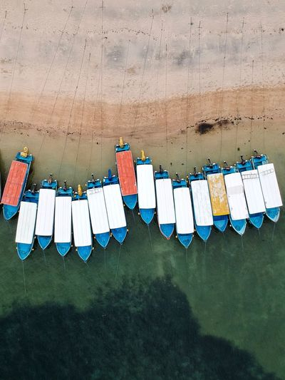 All lined up and ready to go. Travel Destinations Leisure Activity Birds Eye View Bali Tanjung Benoa Beach Arrangement Orderly Man Made Object Power In Nature Dji Spark Bali Drone Photography Boats On Beach Boats And Sea Boats On Water Boats And Water Bright Colors Different Colors Lined Up In A Row Lined Up Ready To Go Boats Nautical Vessel In A Row Drying Hanging Clothesline No People Day Outdoors EyeEm Ready   EyeEmNewHere Visual Creativity The Great Outdoors - 2018 EyeEm Awards