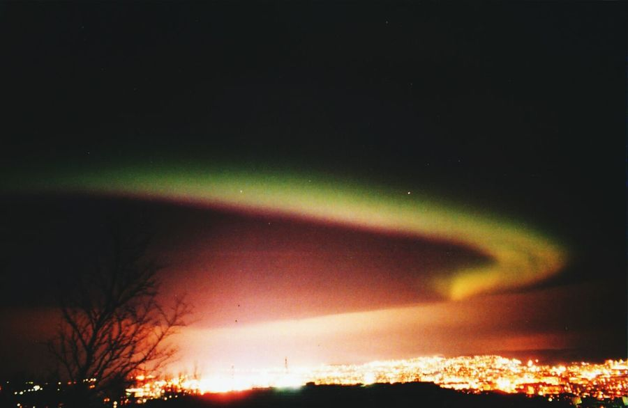 Anadyr Night Scenics Sky Nature Outdoors Beauty In Nature Astronomy No People Illuminated Tree Tranquility Star - Space Dramatic Sky Natural Phenomenon Aurora Polaris Galaxy
