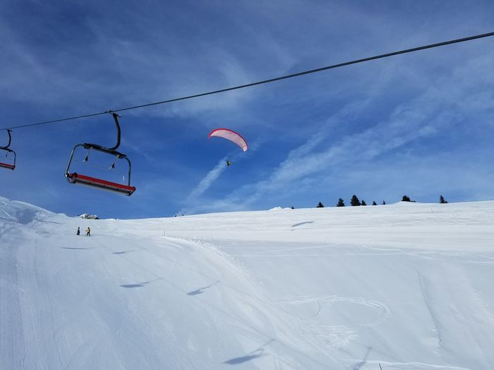 Paragliding Snow Day Landscape Outdoors Sky Nature Winter Travel Destinations