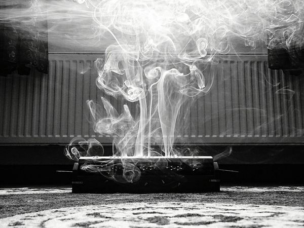 Incense Incense Sticks Incense Burner Incense Holder Smoke Twirls Shapes Black And White B&w Ground Level View Ground Level Living Room Weekend VSCO Vscocam Photoshop Express App. Photoshopexpress Hippy Zen Chilling