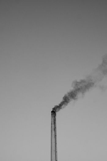 Air Pollution Building Exterior Chimney Clear Sky Copy Space Day Ecosystem  Emitting Environment Environmental Issues Factory Industry Low Angle View Nature No People Outdoors Pollution Sky Smoke - Physical Structure Smoke Stack Tall - High EyeEmNewHere