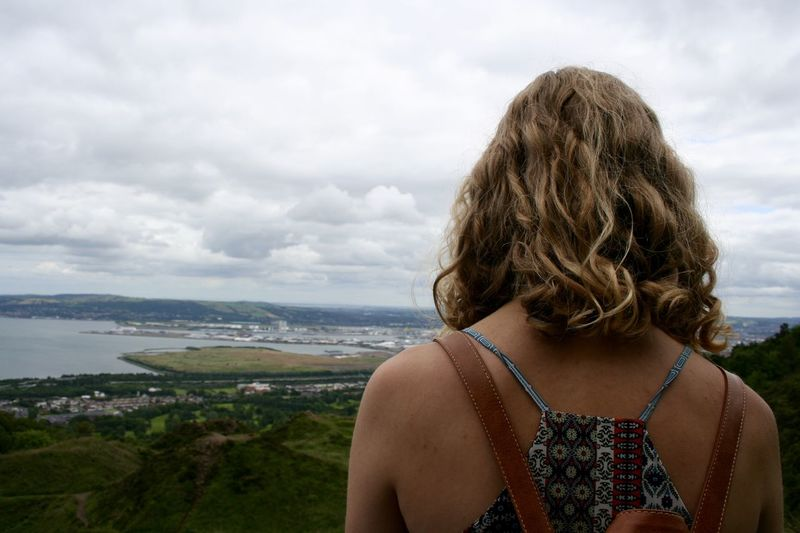 Half way up Cave Hill, looking out over the city. Belfast Candid City Clouds Height Hiking Nature View First Eyeem Photo
