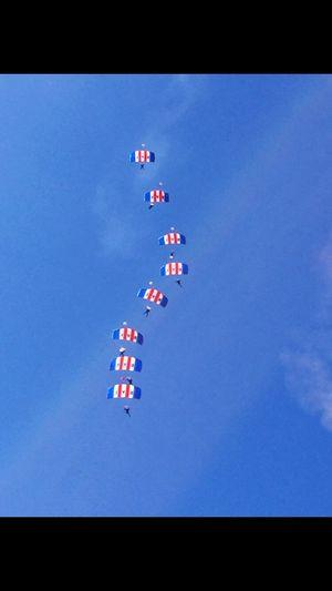 R.A.F. Parachute Jump Team Britain #U.K. #Silverstone