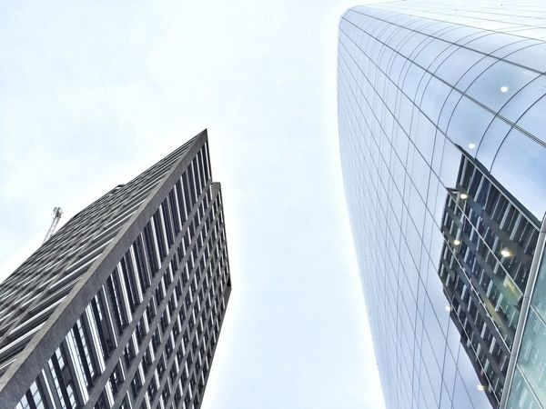 Architecture Building Exterior Built Structure City Corporate Business Day London Low Angle View Modern No People Office Block Outdoors Sky Skyscraper Skyscrapers Tall