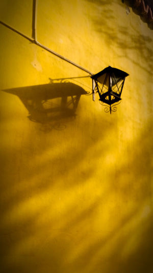Wall Close-up Farol Flarelight Low Angle View Nature Night No People Outdoors Shadows Patterns Line Yellow Yellow Color
