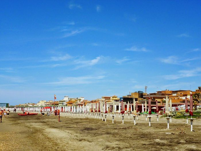 Ostia Beach Blue Sky Roma Italy Fotoitalia Enjoying Life Sky_collection Ostiabeach Relaxing