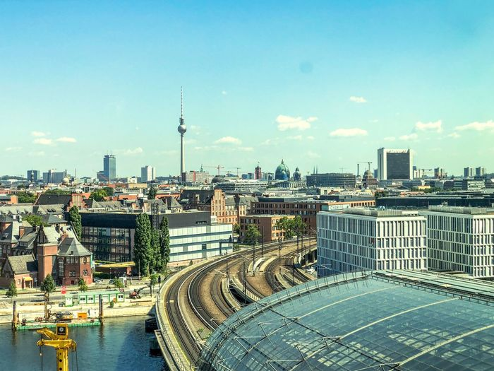 Panoramic view from Berlin Germany Cityscape Berlin Hauptbahnhof Fernsehturm Berlin  Berlin Photography Berliner Ansichten Berlin Built Structure Architecture Building Exterior City Sky Cityscape Day Building Cloud - Sky No People City Life Water Residential District Travel Transportation Travel Destinations Office Building Exterior Skyscraper