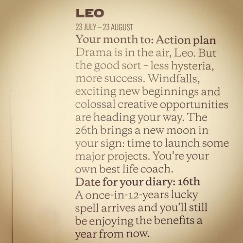 LeoS .. Rise Up and conquer the world!! ?? #horoscope #elleuk#lifelessordinary #lifeisbeautiful #success4less #smile #happyLeo