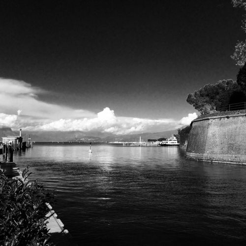 Keep calm... Lifestyle Black And White Artphotography Landscape at Peschiera del Garda Italy