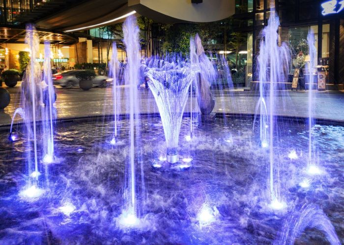 EyeEmNewHere Fountain With Light Effects Lit Water Fountain Color Fountain Water Colourful Fountain Color Colors Colorful Color Lights Colour Lights Fountain Fountains Fountain Lights Night Lights Night City Nightscape Illuminated Water Fairy Lights Light Urban Scene Capture Tomorrow Moments Of Happiness Analogue Sound