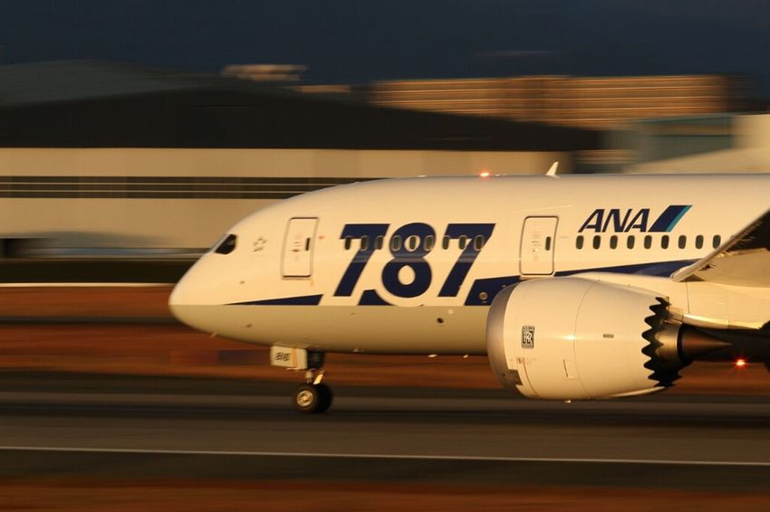 Airplane Airport Panning Planeporn Aircraft B787