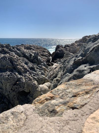 Summer Travel Photography Travel Chile America Del Sur Zapallar LasCujas Las Cujas Sea Sky Water Scenics - Nature Beauty In Nature Rock Day Horizon Tranquility Rock - Object Solid Clear Sky Nature Tranquil Scene Horizon Over Water Beach No People Land Sunlight Outdoors