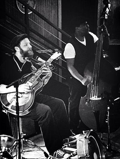 Enjoying Life Friends Jamming Upright Bass Bass Guitar Acoustic Acoustics