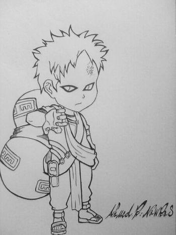"Anime Naruto Sketch My Drawing "" gara """
