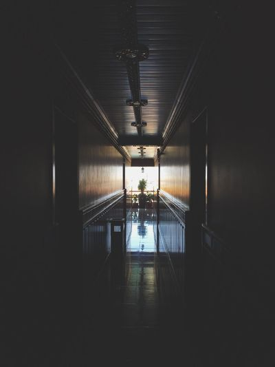 EyeEm Selects No People Illuminated Architecture Corridor Indoors  Empty The Way Forward