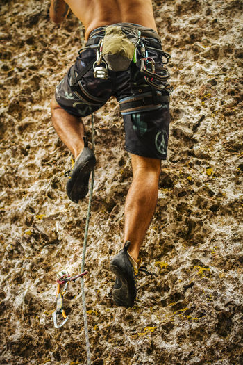 A Chalenge Climber Legs Climbing Climbing A Mountain Human Body Part Human Leg Lifestyles Low Section Men Outdoors Radical Sport Rapel Rapelling RISK Security