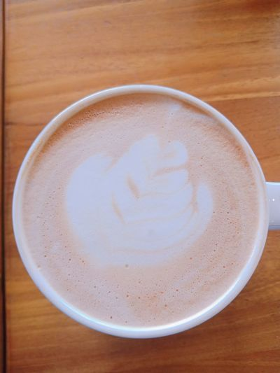 Hot latte Froth