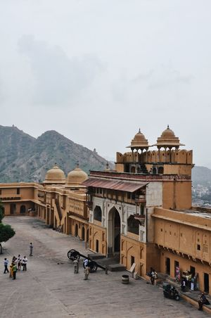 India Travel Photography Traveling Travelling Amer Fort Architecture Building Building Exterior Built Structure Day Fort Group Of People History Incidental People Incredible India Mountain Outdoors Rajasthan Sky The Past Tourism Travel Travel Destinations Travelphotography