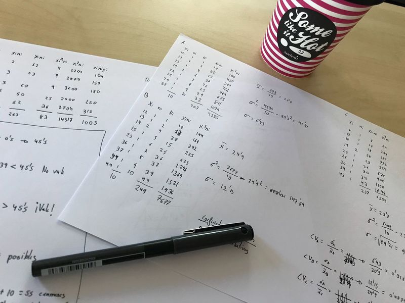 Exam is coming. Indoors  Table High Angle View Paper Communication Real People Close-up Day Formula Coffee Statistics  Number