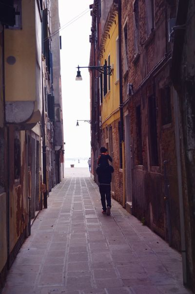 Venice, Italy Love Son Father Venedig Italy #Venice Building Exterior Architecture Built Structure Direction Rear View The Way Forward Full Length City Street Walking Men Real People