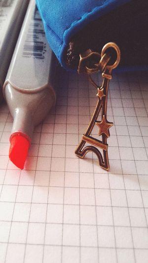 Pencil-case Charm The Eiffel Tower Pen Student Studies