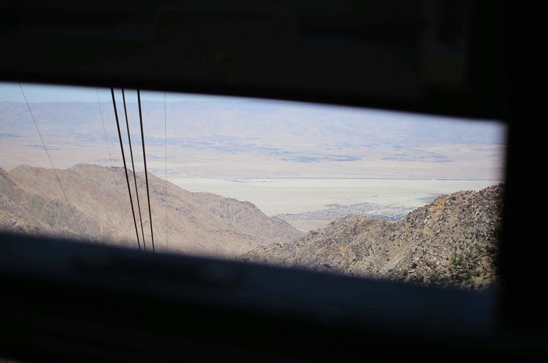 Desert Aerial Tramway Window Land Nature Sky No People Vehicle Interior Glass - Material