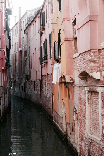 #Venice is Colors. Rosé. Architecture Building Building Exterior Canal City Colors Day EyeEm Best Edits EyeEm Gallery Italy No People Showcase April Town Venice Water